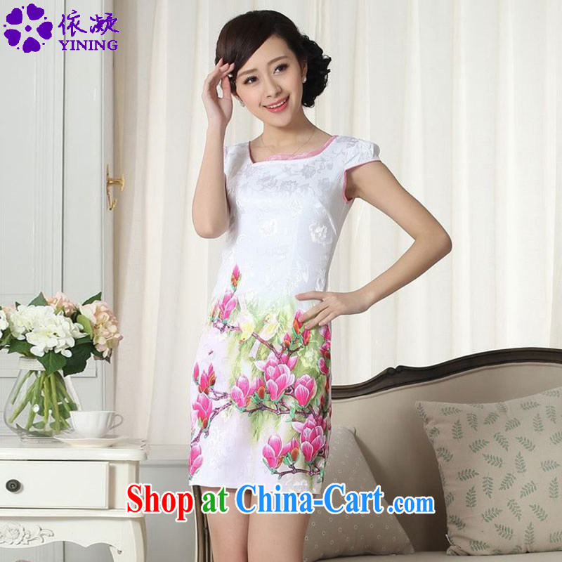 To fuser new female Ethnic Wind improved Chinese qipao rounded ends to spend cultivating short, short-sleeved cheongsam dress LGD_D _0306 figure 2 XL
