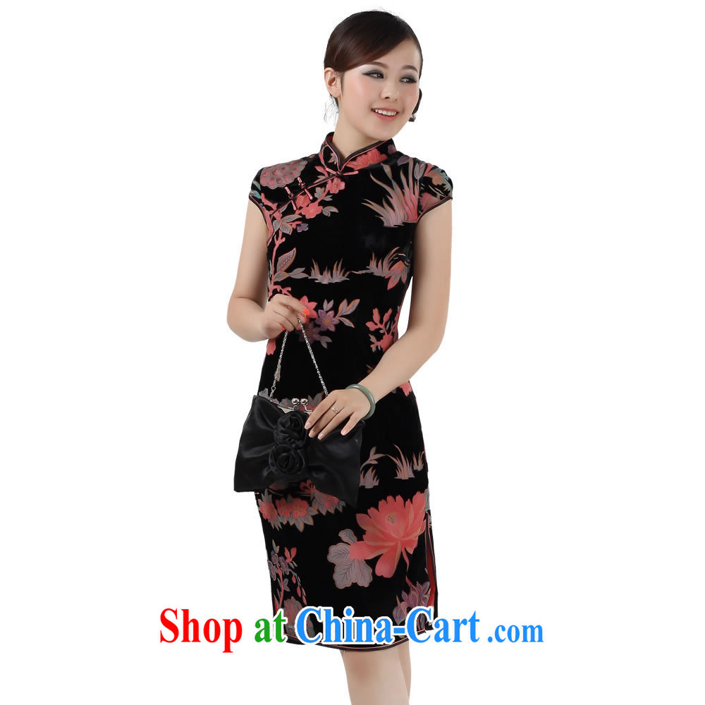 Cyd Ho Kwun Tong Heavenly Fragrance Silk Cheongsam/Summer improved stylish/2013 cheongsam dress G 1010111 picture color S