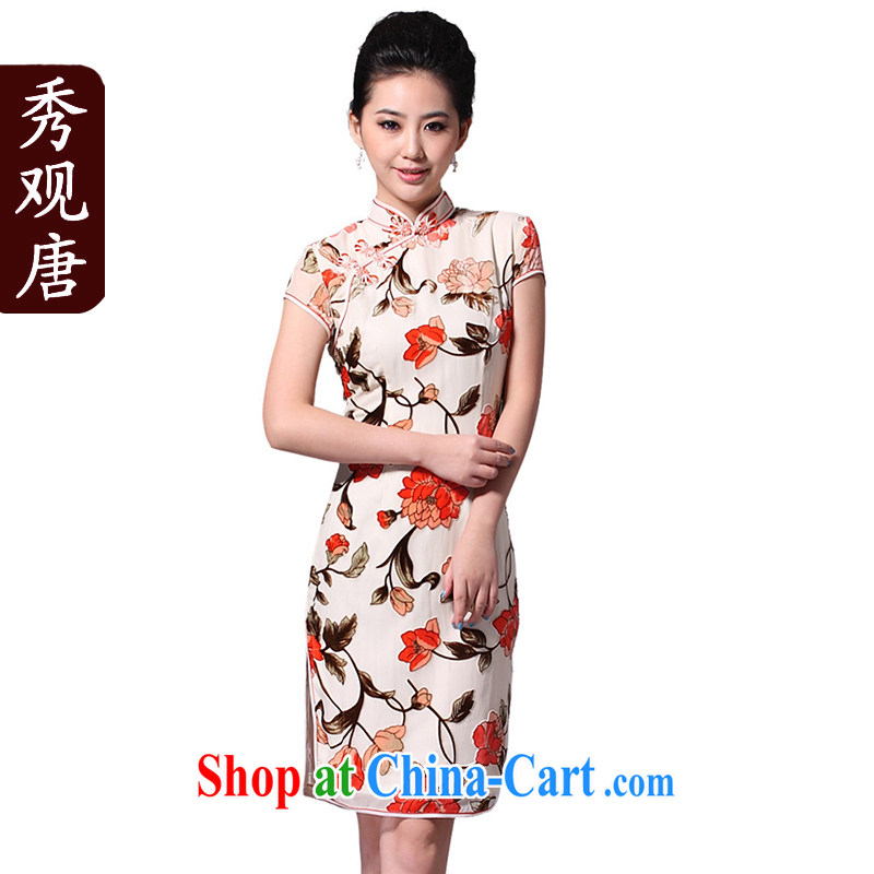 Cyd Ho Kwun Tong bonus the Silk Cheongsam_Summer 2013 standard MOM dresses skirts_improved stylish_G 33,278 picture color S