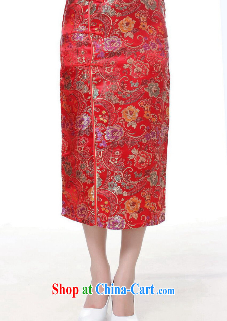 spend the summer short dresses Women's clothes Chinese improved, for damask 10 grain charge-back dresses short sleeve retro long cheongsam dress C 0002 gold S pictures, price, brand platters! Elections are good character, the national distribution, so why buy now enjoy more preferential! Health
