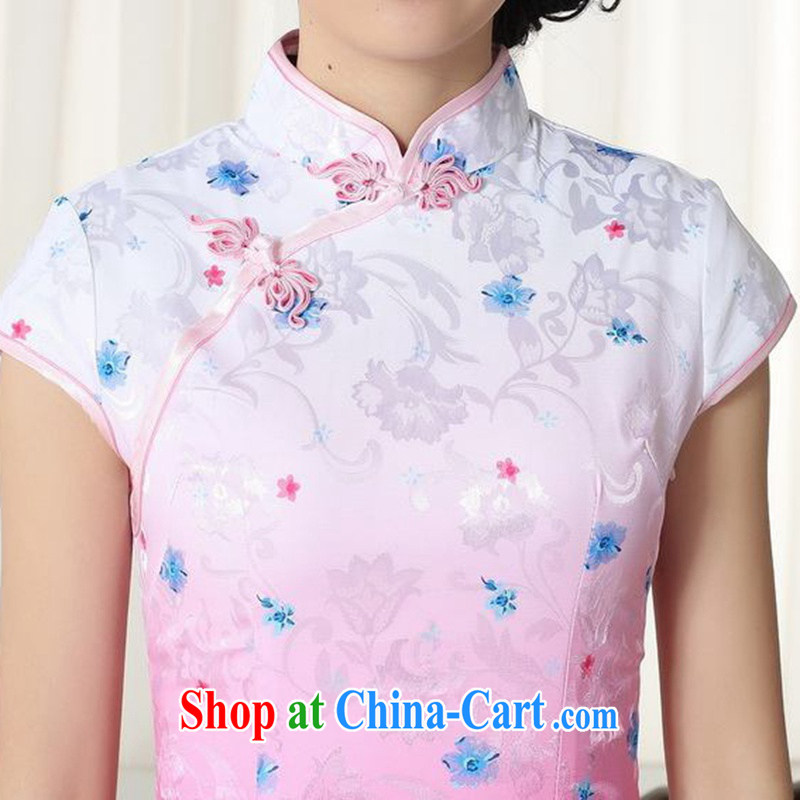 In accordance with fuser summer stylish new female Chinese improved Chinese cheongsam dress, for a tight decals cultivating short cheongsam dress LGD/D 0290 #2 XL, fuser, and on-line shopping
