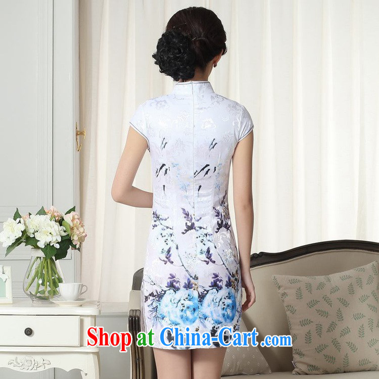 According to fuser summer stylish new Chinese improved Chinese cheongsam dress, for a tight retro-tie beauty short cheongsam dress LGD/D #0281 figure 2 XL pictures, price, brand platters! Elections are good character, the national distribution, so why buy now enjoy more preferential! Health