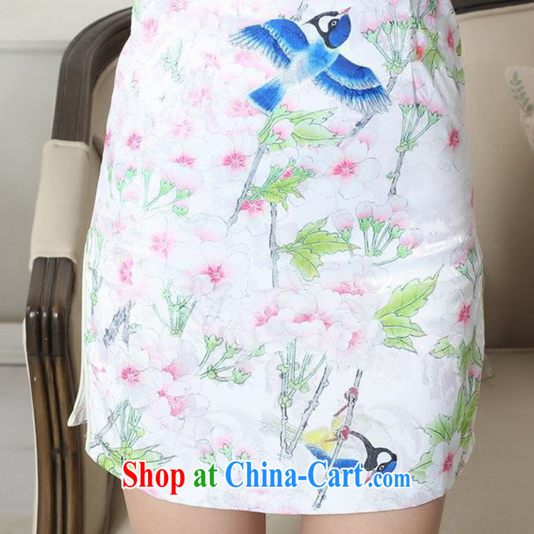 According to fuser new summer, female retro Ethnic Wind improved Chinese qipao stylish beauty short cheongsam dress LGD/D #0277 figure 2 XL pictures, price, brand platters! Elections are good character, the national distribution, so why buy now enjoy more preferential! Health