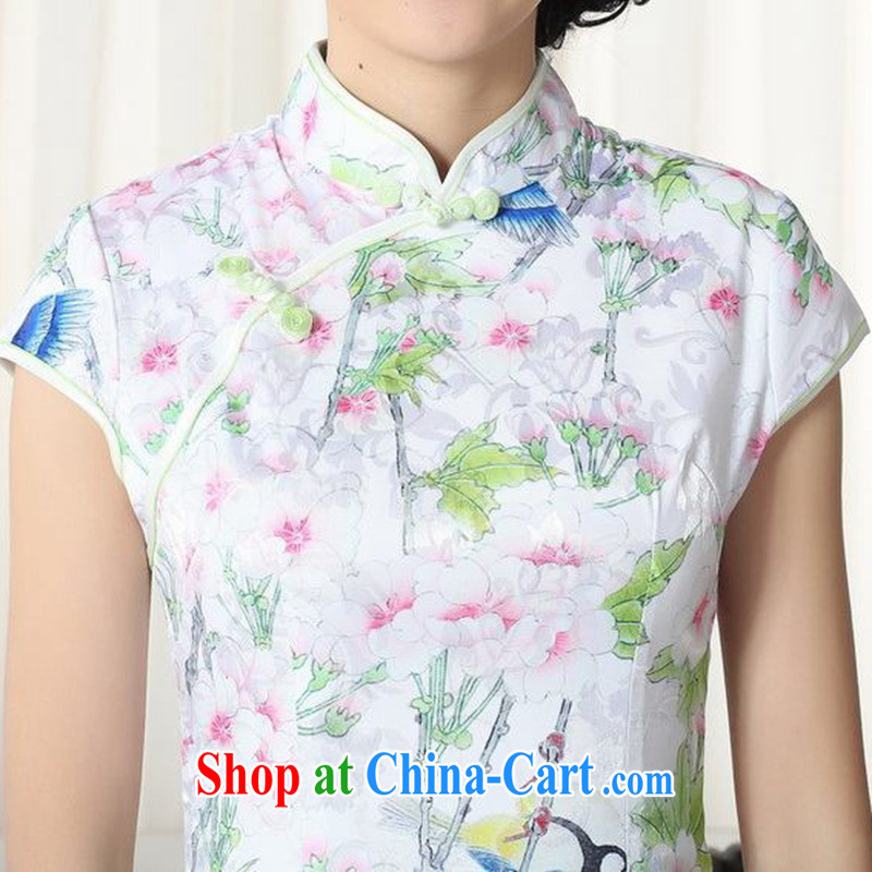 According to fuser new summer, female retro Ethnic Wind improved Chinese qipao and stylish beauty, short cheongsam dress LGD/D 0277 #as figure 2 XL, fuser, and shopping on the Internet