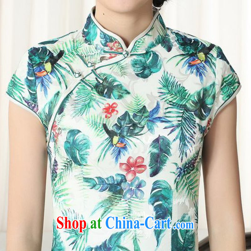 According to fuser new summer, female Chinese improved Chinese qipao gown beauty and stylish classic tray clip short sleeves cheongsam dress LGD/D #0271 figure 2 XL, fuser, and shopping on the Internet