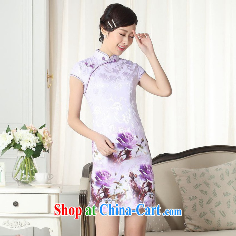 According to fuser summer new female Chinese Chinese cheongsam dress, for a tight and stylish beauty short cheongsam dress LGD/D #0262 figure 2 XL pictures, price, brand platters! Elections are good character, the national distribution, so why buy now enjoy more preferential! Health