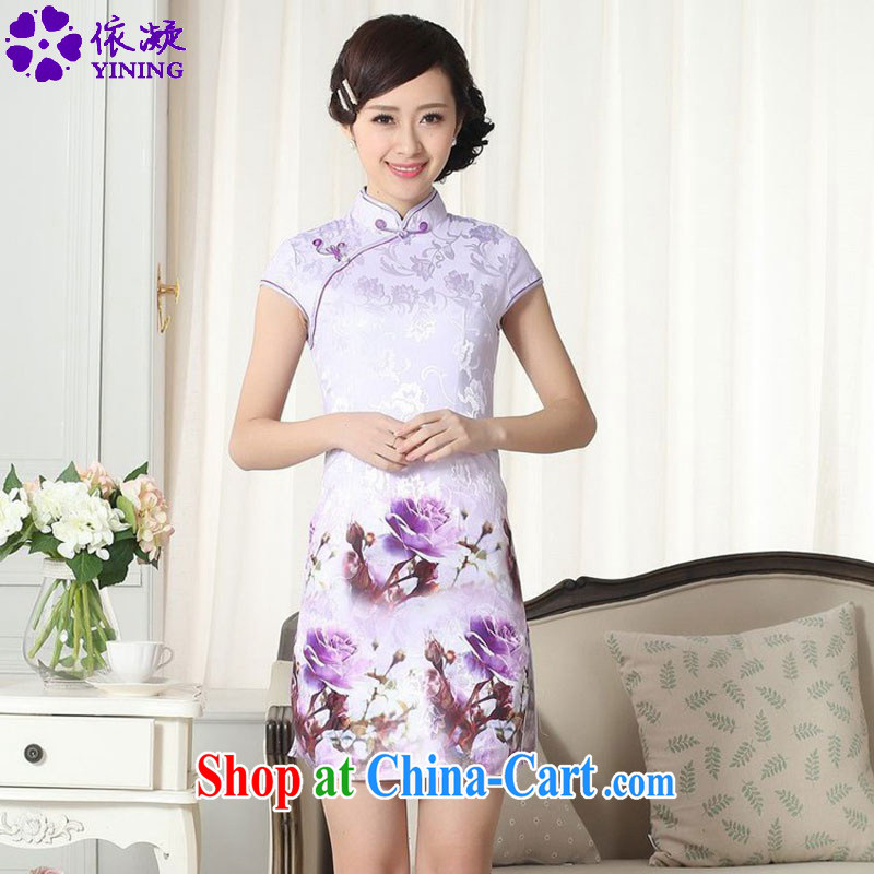 According to fuser summer new female Chinese Chinese qipao gown, for a tight and stylish beauty short cheongsam dress LGD/D #0262 figure 2 XL