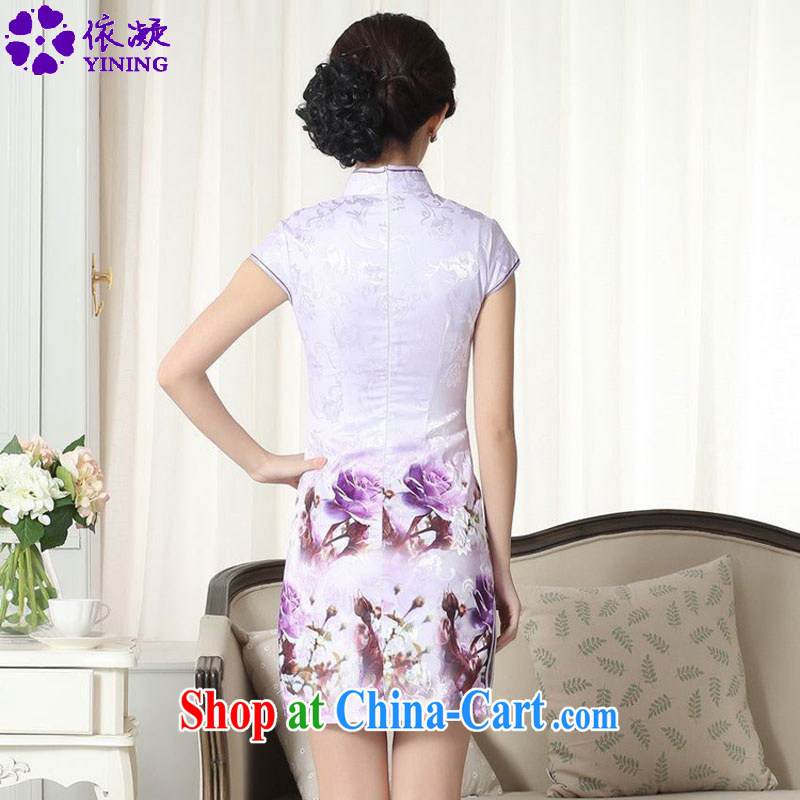 According to fuser summer new female Chinese Chinese cheongsam dress, for a tight and stylish beauty short cheongsam dress LGD/D 0262 #as figure 2 XL, fuser, and shopping on the Internet