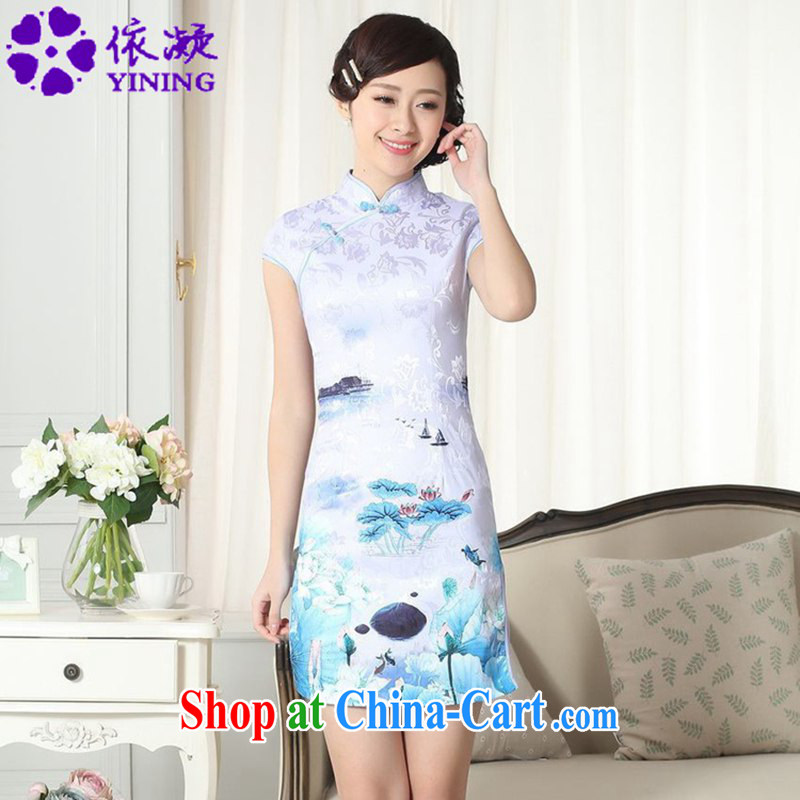 According to fuser new female Chinese improved Chinese qipao, for classical-buckle casual Chinese cheongsam dress LGD_D _0260 figure 2 XL