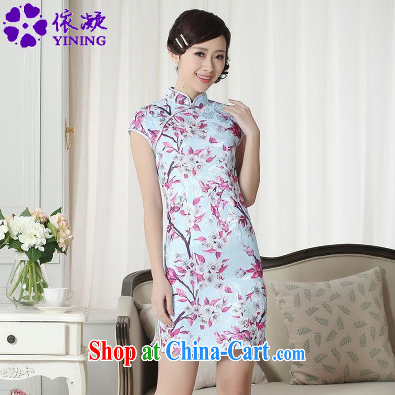 According to fuser stylish new ladies retro improved daily Chinese Chinese qipao Classic tray snaps cultivating cheongsam dress LGD_D _0259 figure 2 XL