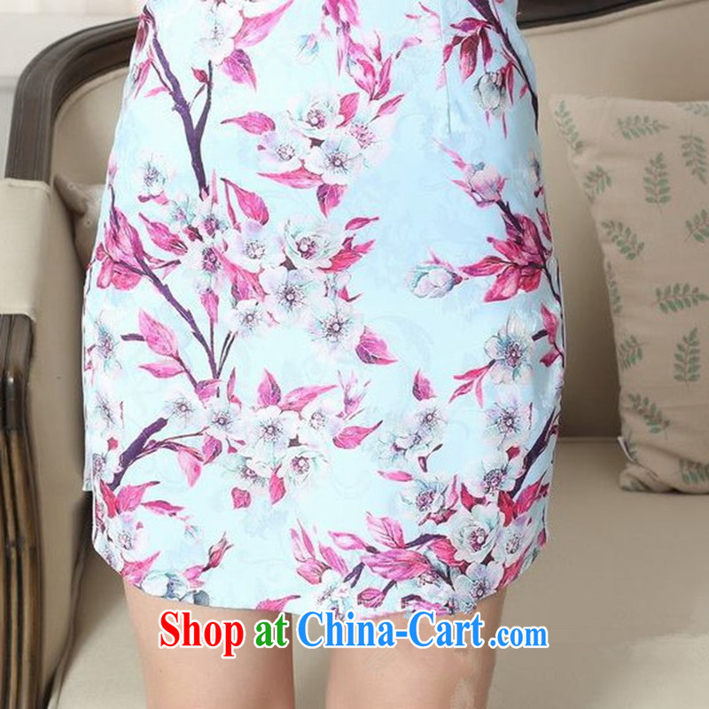 According to fuser stylish new ladies retro improved daily Chinese Chinese qipao Classic tray for cultivating cheongsam dress LGD/D 0259 #as figure 2 XL, fuser, and shopping on the Internet
