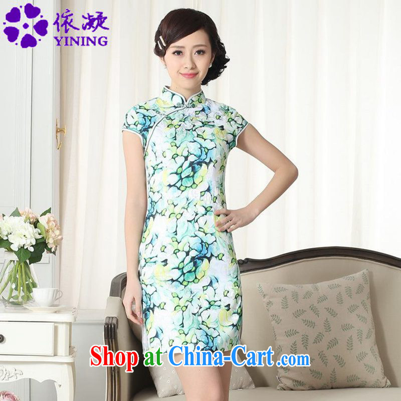 Under the fuser and stylish new female Chinese improved Chinese cheongsam dress, for a tight cultivating Chinese cheongsam dress LGD_D _0258 figure 2 XL