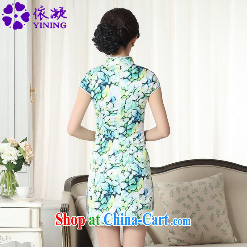 According to fuser and stylish new female Chinese improved Chinese cheongsam dress, for a tight cultivating Chinese cheongsam dress LGD/D #0258 figure 2 XL, fuser, and shopping on the Internet