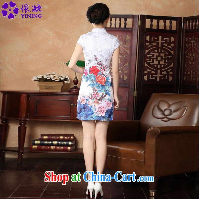 According to fuser new female retro improved Chinese Chinese qipao, for a tight Classic tray for cultivating short cheongsam dress LGD/D 0228 #red 2 XL, fuser, and, online shopping