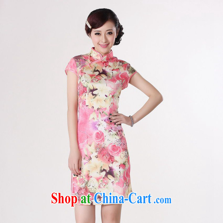According to fuser new summer, female daily improved Chinese Chinese qipao retro-tie cultivating short Chinese qipao dress LGD/D #0198 figure 2 XL pictures, price, brand platters! Elections are good character, the national distribution, so why buy now enjoy more preferential! Health