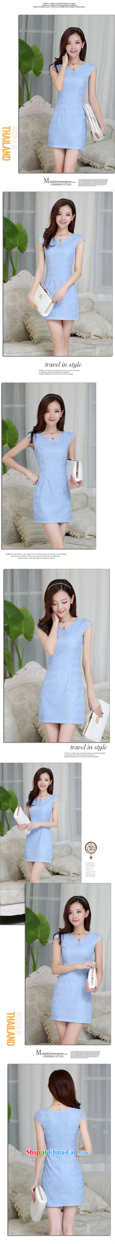 Los Angeles Summer 2015 new women with stylish and simple dresses elegant beauty short cheongsam dress pink XXL pictures, price, brand platters! Elections are good character, the national distribution, so why buy now enjoy more preferential! Health