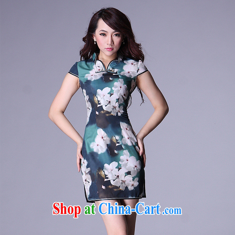 Health Concerns dress * HIV can also new, improved cheongsam stylish Chinese larger dresses bridal wedding dresses antique QP 006 - 4 picture color XL