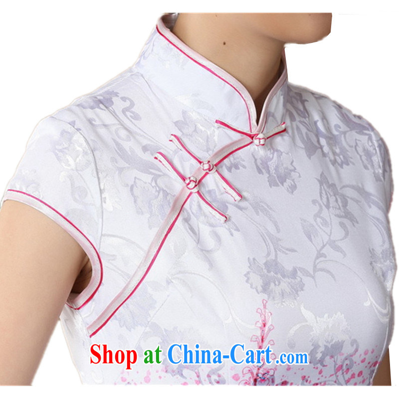 According to fuser new female retro improved Chinese Chinese qipao, for a tight beauty short cheongsam dress LGD/D 0222 #red 2 XL, fuser, and shopping on the Internet