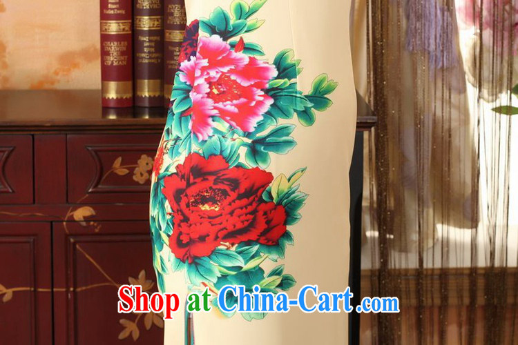 According to fuser new summer, female retro improved daily Chinese qipao, for tight dripping from cultivating long cheongsam dress LGD/C 0007 #yellow 2XL pictures, price, brand platters! Elections are good character, the national distribution, so why buy now enjoy more preferential! Health