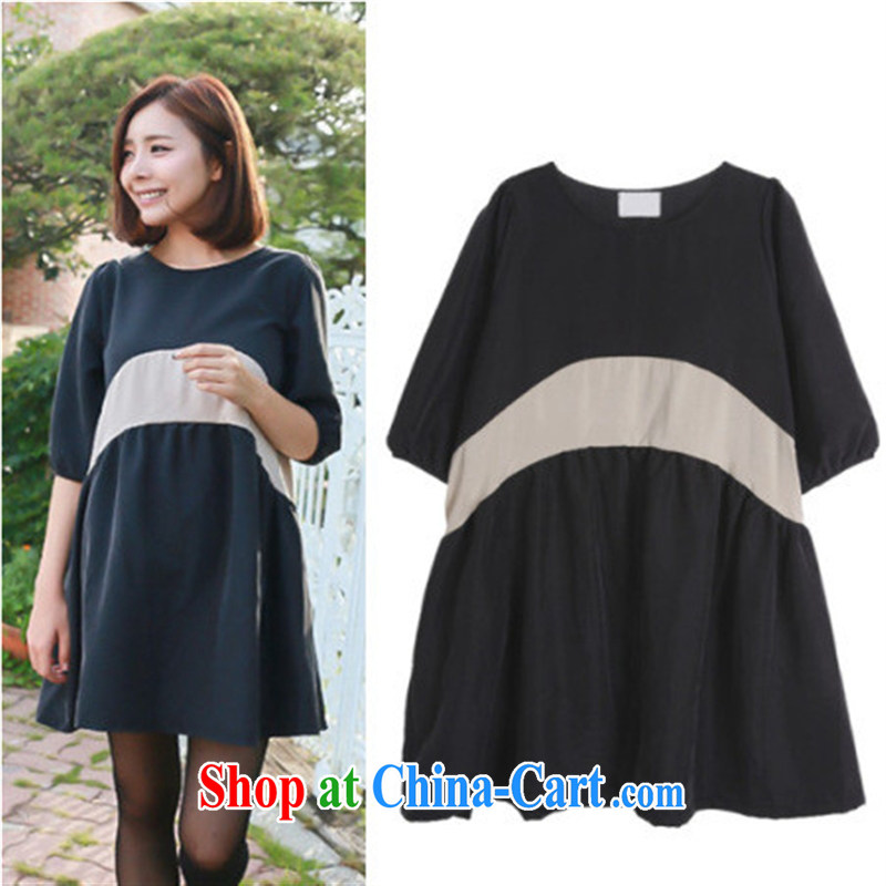 Health Concerns dress _ Pregnant women with T-shirt, with stitching pregnant women dress cuff in bubble cuff Princess dresses women 6002 _picture color code
