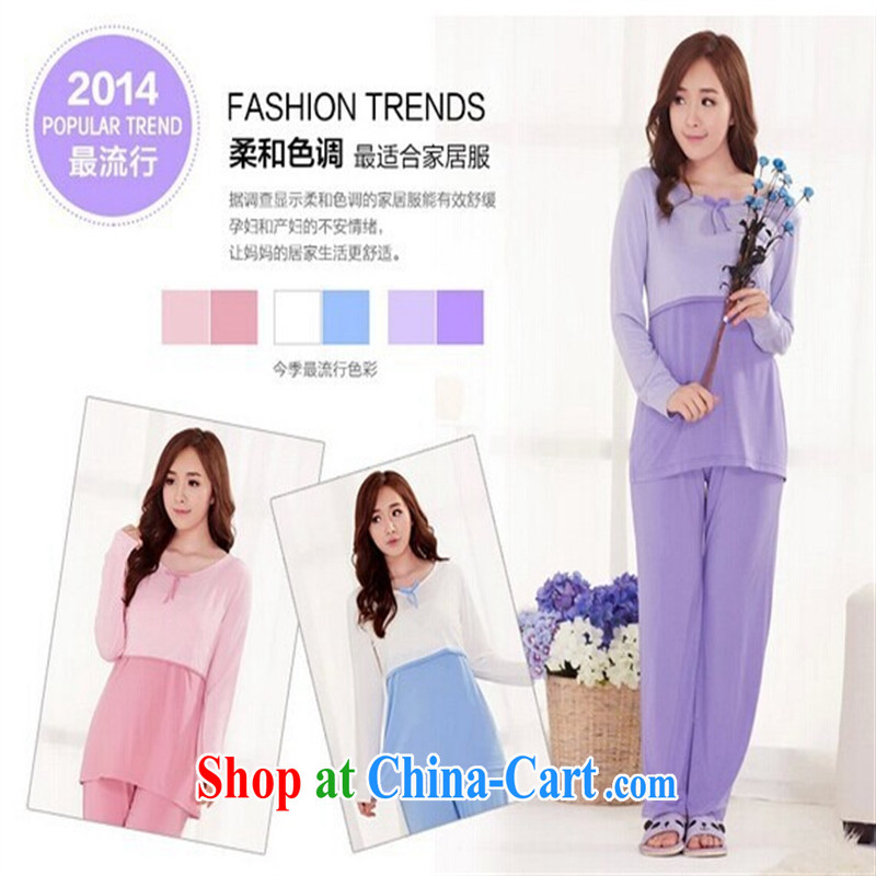 Health Concerns dress _ 8138 _2015 new spring loaded pregnant women, child care, generation, pregnant women nursing pajamas pink XL