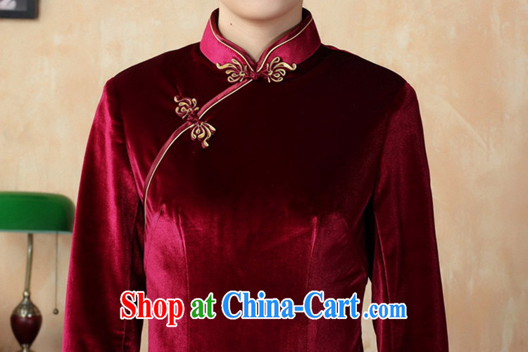 According to fuser new female retro improved Chinese Chinese qipao, for a tight retro-tie score of 7 beauty cuff cheongsam dress LGD/T 0001 #violet 3XL pictures, price, brand platters! Elections are good character, the national distribution, so why buy now enjoy more preferential! Health