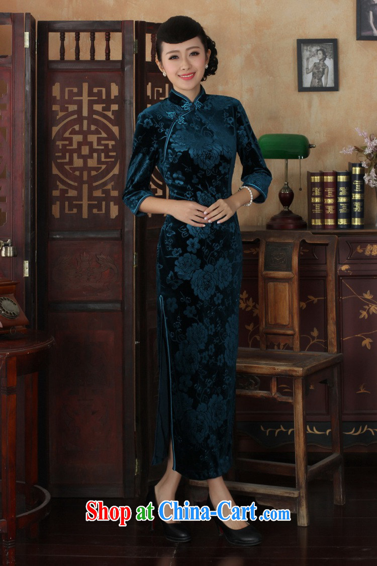According to fuser new female Chinese improved daily Chinese qipao, for a tight and stylish beauty 7 cuff long cheongsam dress LGD/T 0002 # -A black 3 XL pictures, price, brand platters! Elections are good character, the national distribution, so why buy now enjoy more preferential! Health