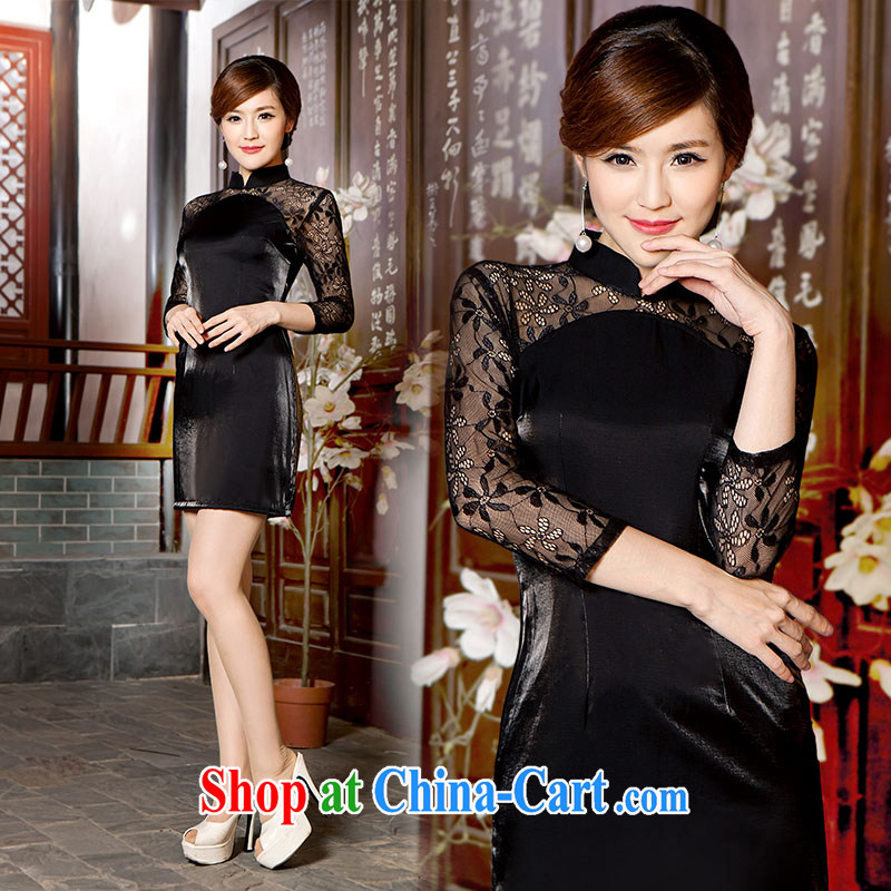 Video thin stylish improved Chinese qipao cheongsam dress day new summer beauty dresses upscale retro dresses dress picture color L