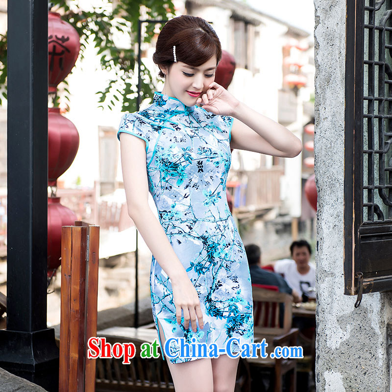 Elegance women's clothing everyday dresses skirts stylish improved summer new retro beauty dresses picture color XL