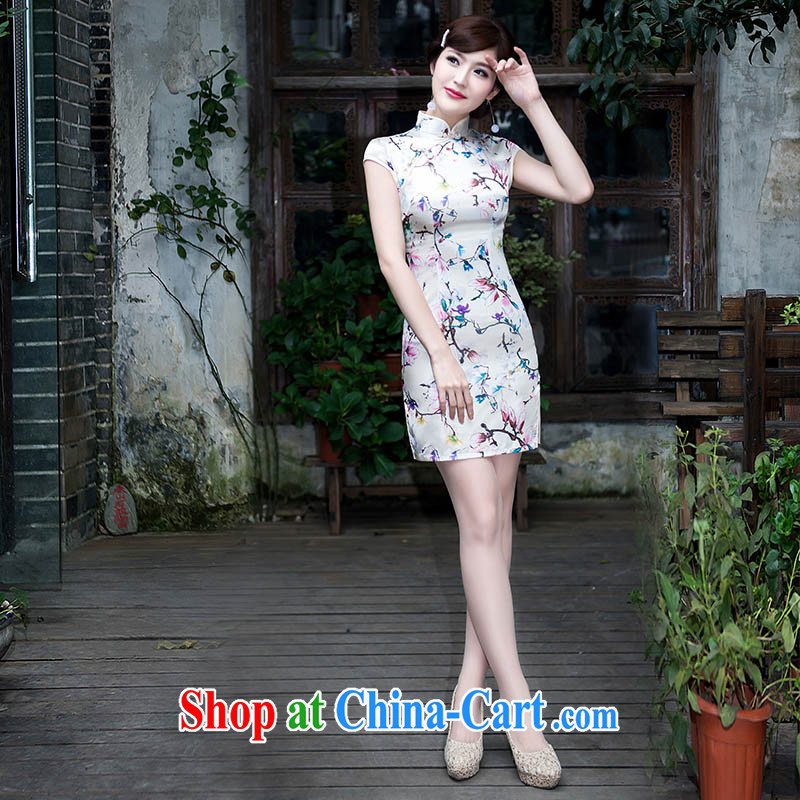 New summer fashion improved cheongsam elegance antique cheongsam dress everyday dresses dresses beauty short picture color XL