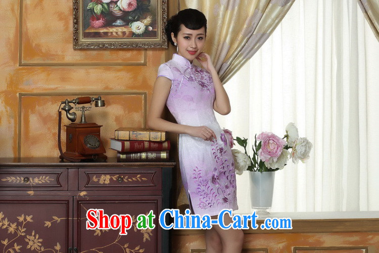 Bin Laden smoke light qipao gown summer new, female Chinese improved, short, cotton cheongsam dress short Flag if the color 2 XL pictures, price, brand platters! Elections are good character, the national distribution, so why buy now enjoy more preferential! Health