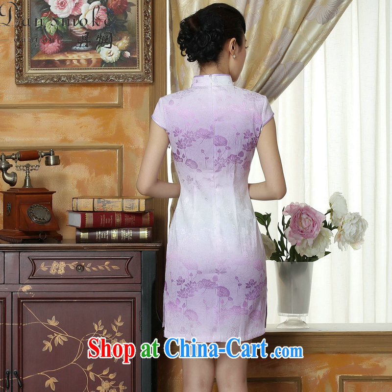 Bin Laden smoke light dresses summer dresses with new female Chinese improved, short, cotton cheongsam dress short Flag if the color 2 XL, Bin Laden smoke, shopping on the Internet