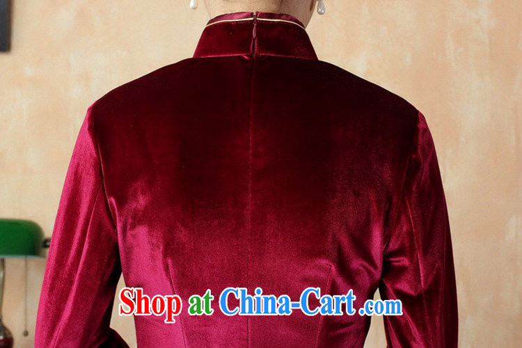 According to fuser new women with solid color-stretch the wool 7 cuff Chinese cheongsam dress LGD/TD 0005 #wine red 3 XL pictures, price, brand platters! Elections are good character, the national distribution, so why buy now enjoy more preferential! Health