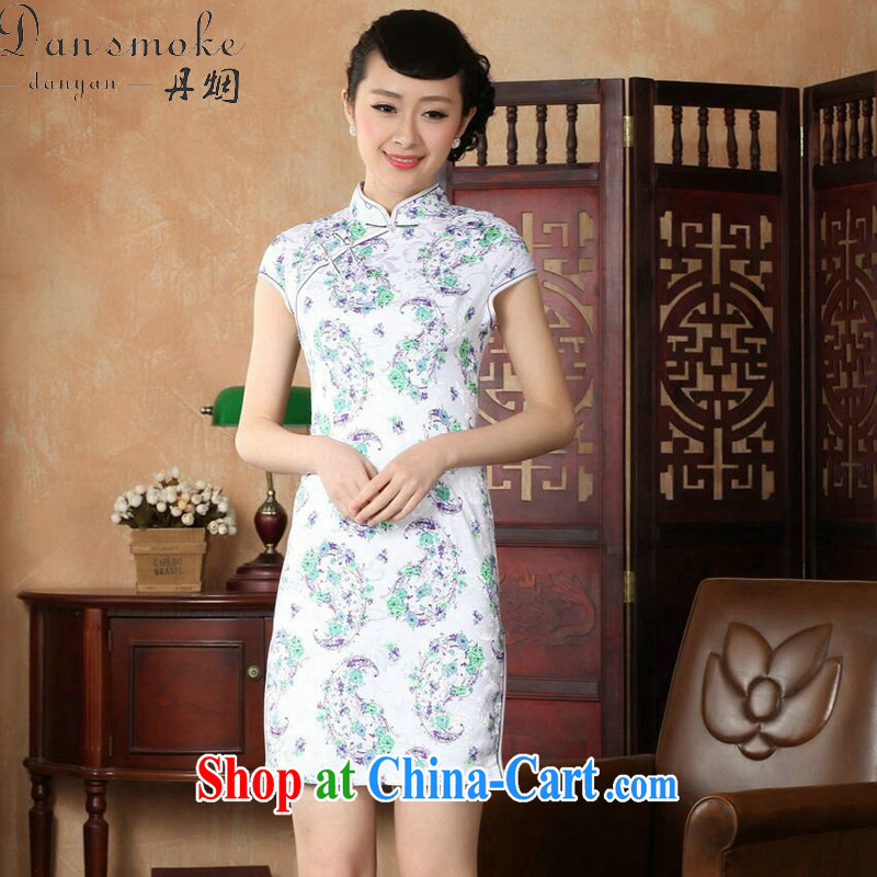 Bin Laden smoke-free stylish improved cultivating short cheongsam dress summer new female Chinese, Chinese collar cotton cheongsam dress such as the color 2 XL