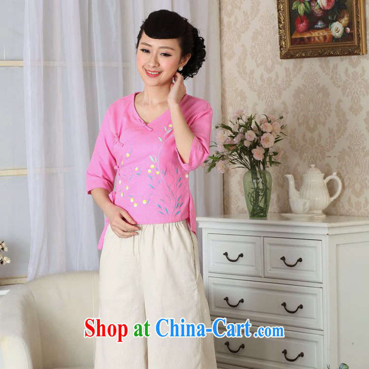 According to fuser new female Ethnic Wind retro improved Chinese qipao is a tight hand-painted cotton Ma shirt Tang Replace T-shirt LGD/A #0053 figure 2 XL pictures, price, brand platters! Elections are good character, the national distribution, so why buy now enjoy more preferential! Health