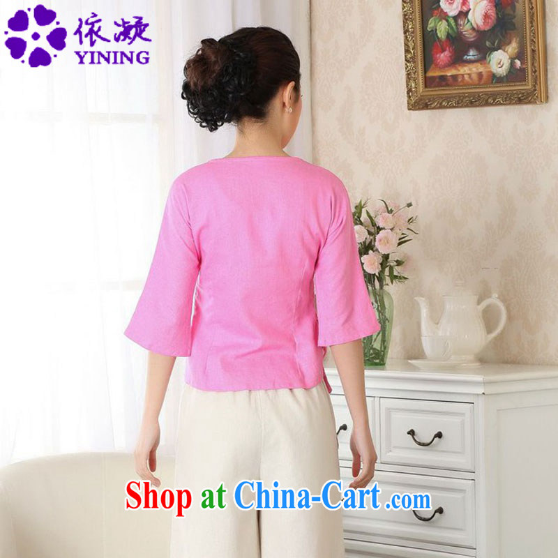 According to fuser new female Ethnic Wind retro improved Chinese qipao is a tight hand-painted cotton shirt Yau Ma Tei Tong Load T-shirt LGD/A #0053 figure 2 XL, fuser, and, online shopping