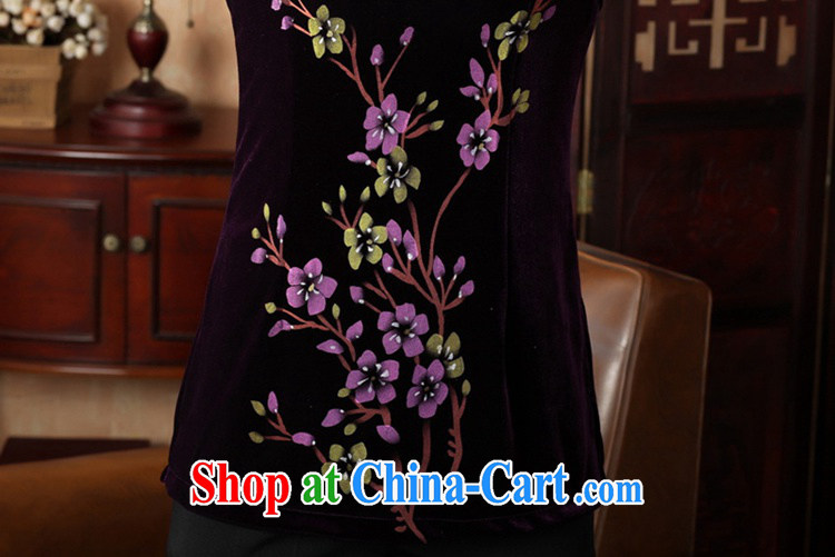 According to fuser new female Ethnic Wind improved Chinese Chinese qipao, for a tight hand-painted 9 cuff Chinese T-shirt LGD/A 0065 #purple 3 XL pictures, price, brand platters! Elections are good character, the national distribution, so why buy now enjoy more preferential! Health