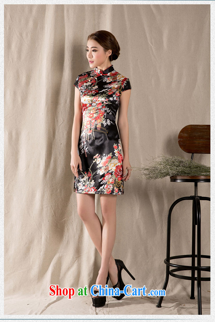 Sir David WILSON, Zhuang 2015 new spring and summer with a short-sleeved Chinese qipao refined antique China wind women's clothing dresses Z 1227 fancy M pictures, price, brand platters! Elections are good character, the national distribution, so why buy now enjoy more preferential! Health