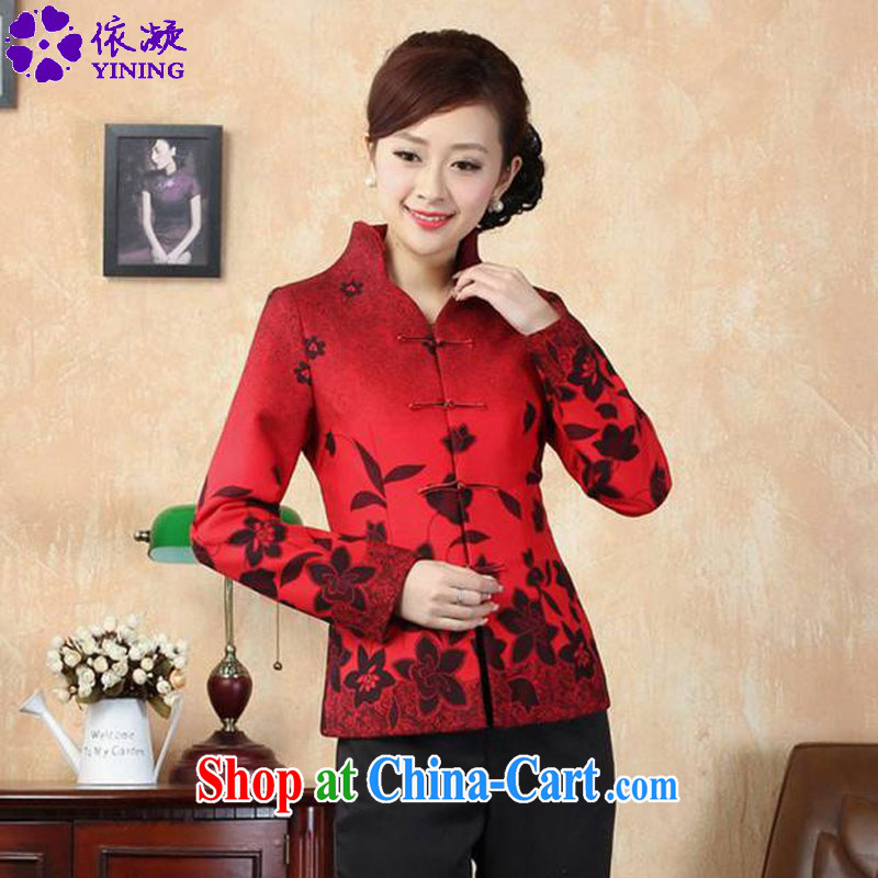 According to fuser Spring and Autumn and stylish new female Ethnic Wind improved Chinese qipao, suit for single tie Sau San Tong jackets LGD/J 0067 #3 XL