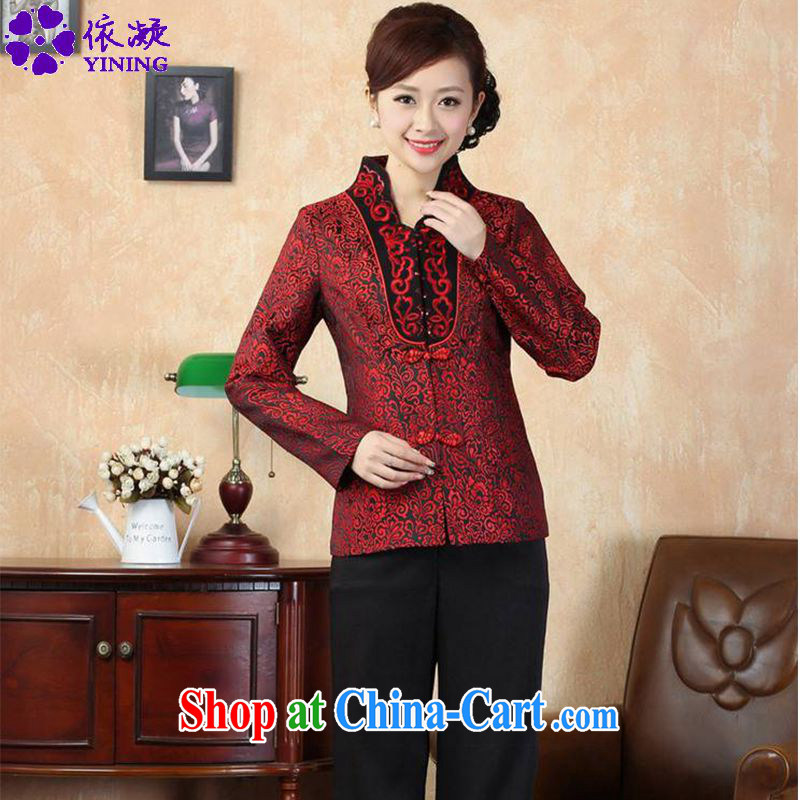 In accordance with fuser new female Ethnic Wind Chinese improved Chinese qipao stylish Sau San Tong jackets LGD_J 0069 _3 XL