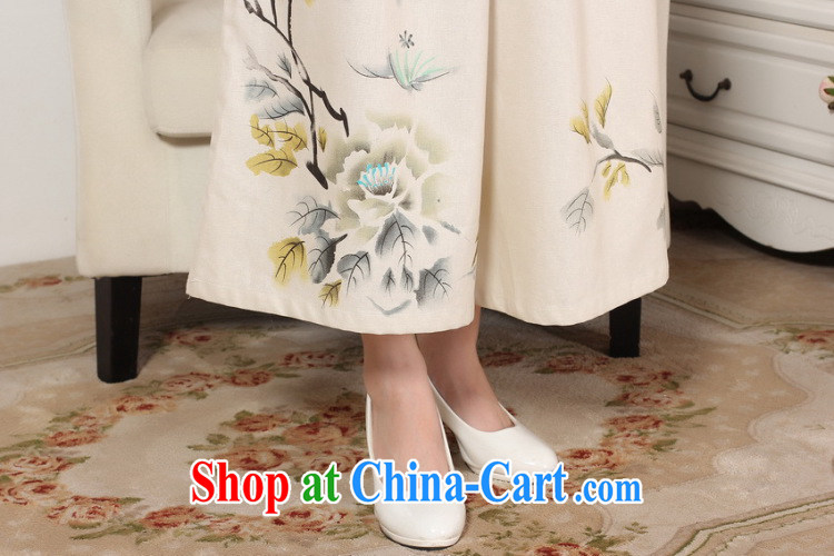 Bin Laden smoke Tang with loose Ethnic Wind female Trouser press summer new women the commission cotton pants wide leg pants hand-painted Tang 9 pants as shown color L pictures, price, brand platters! Elections are good character, the national distribution, so why buy now enjoy more preferential! Health