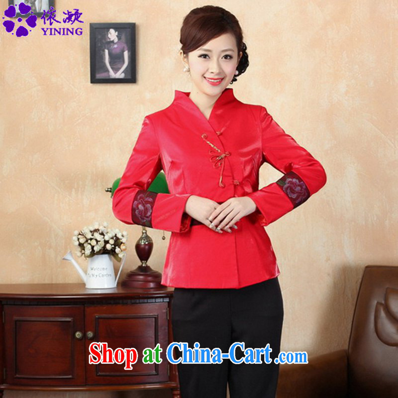 According to fuser Spring and Autumn and new, female retro name ethnic-Chinese qipao, for stitching Sau San Tong jackets LGD_J 0071 _3 XL