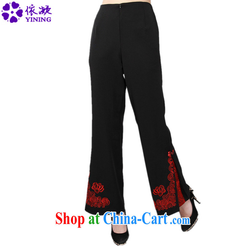 In accordance with fuser new female Ethnic Wind Chinese improved Chinese qipao stylish embroidered short pants LGD/P #0005 figure 3 XL