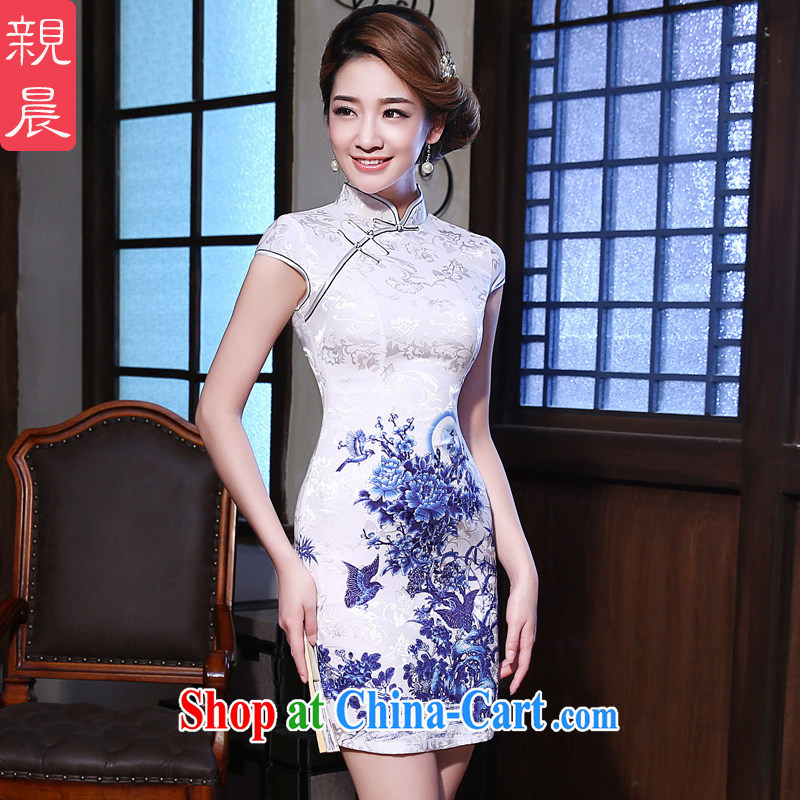 The pro-am 2015 as soon as possible new summer beauty routine short retro Ethnic Wind dresses cheongsam dress dress short-sleeved 2XL