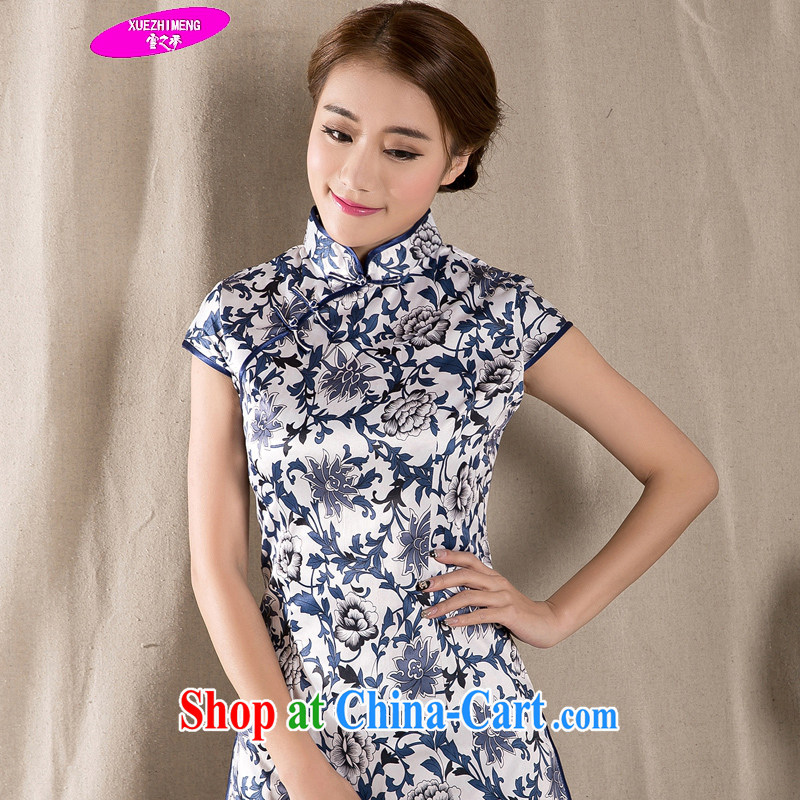 Snow dream 2015 spring and summer with new Ethnic Wind Chinese improved cheongsam shirt cultivating cotton Ms. Yau Ma Tei Tong load Z 1231 fancy XXL