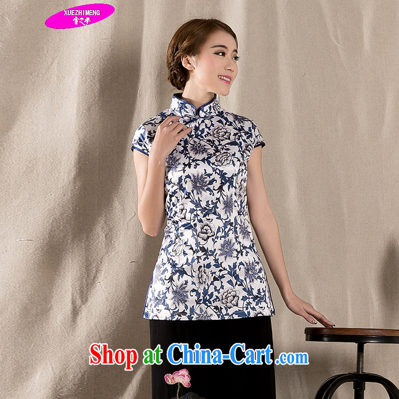 Snow's dream 2015 spring and summer with new Ethnic Wind Chinese improved cheongsam shirt cultivating cotton Ms. Yau Ma Tei Tong load Z 1231 XXL suits, snow dream, shopping on the Internet