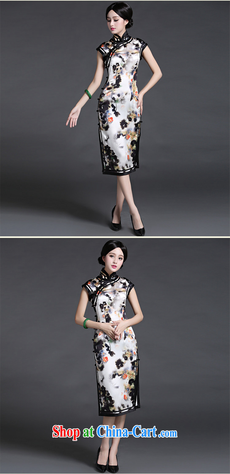 China classic heavy silk, silk cheongsam dress 2015 new summer style, Retro art floral XXL pictures, price, brand platters! Elections are good character, the national distribution, so why buy now enjoy more preferential! Health