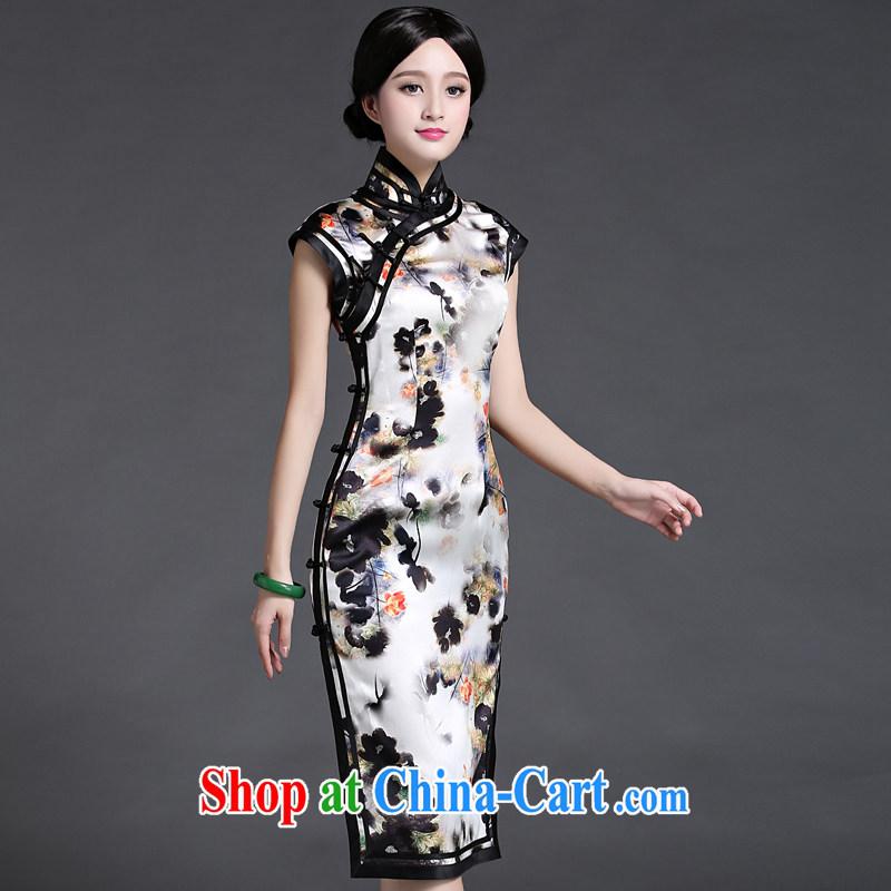 China classic heavy silk, silk cheongsam dress 2015 new summer Ms. aura Classic Literature XXL suit, China Classic (HUAZUJINGDIAN), online shopping