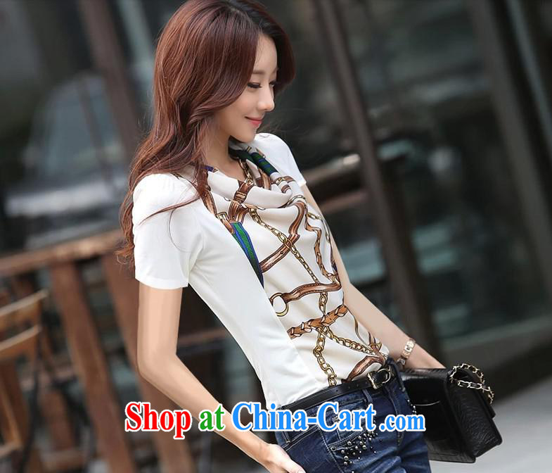 Qin Qing store 2015 foreign trade and the new European site female large code t-shirt cultivating small T-shirt trend T shirts female white XXL pictures, price, brand platters! Elections are good character, the national distribution, so why buy now enjoy more preferential! Health