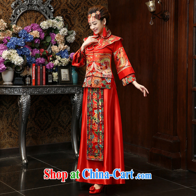 Su Wu edge 2015 NEW GRAPHICS thin antique Chinese marriages married Yi Su-phoenix Wo service marriages served toast red M